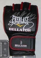 Michael Chandler & Eddie Alvarez Signed Official Bellator MMA Glove PSA/DNA COA