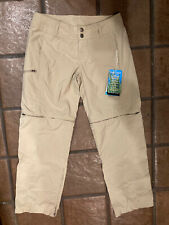 ExOfficio Unisex Tan BUGS AWAY Insect Shield Repellant Convertible Shorts Pants.