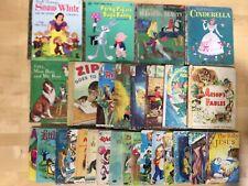 Lot of 28 Vintage Children's Books, Disney, Rand McNally, Whitman