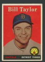 1958 Topps #389 Bill Taylor EXMT/EXMT+ Tigers 24368