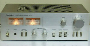 Vintage Technics Audio Stereo Integrated Amplifier alloy face made in Japan