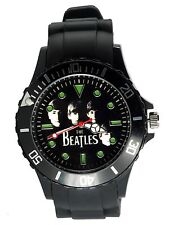 THE BEATLES WATCH S Steel SILICONE ROCK BAND MUSIC LEGENDS ROUND CD WATCH UK