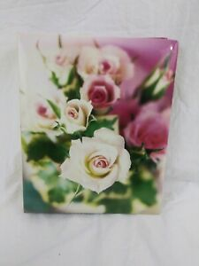 Floral Photo Album Self Adhesive Picture Organizer Holder 100 Pages 50 Sheets