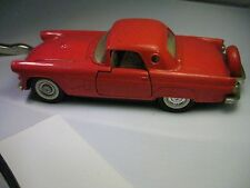Vintage Majorette 1956 Ford Thunderbird, Hard Top, Red, Spare Tire 1/32 Scale