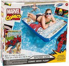 SwimWays Marvel Comic Book Float - Spider-man POOL LAKE TOY Inflatable Raft NIB