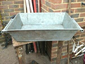 GALVANISED LOG BIN / GARDEN PLANTER HEAVY DUTY