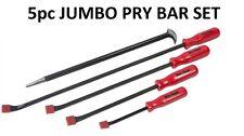 5pc hi-visibilité jumbo pry bar set rolling bar crow levier drop oublier la chaleur I931