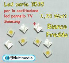 10 Led mod.3535 per retroilluminazione TV Samsung 1,25W 3V 100-110LM