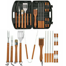 19pcs Outdoor Bbq Tools Set Camp Stainless Steel Cooking and Grill Accessories