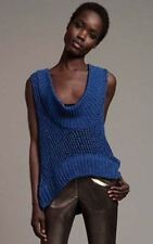 NWT PLENTY /TRACY REESE Sz P Ultramarine Diagonal Stitch Pullover RRP $199
