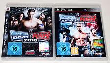 2 PS3 SPIELE BUNDLE - SMACKDOWN VS RAW 2010 & 2011 - PLAYSTATION WRESTLING ECW