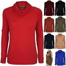 Cowl Neck Long Sleeve Tops & Shirts for Women