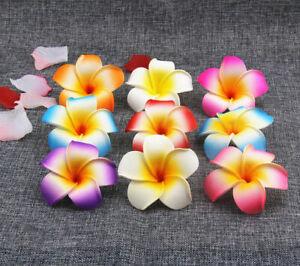 "Lot Foam Plumeria 2.3"" Hawaiian Frangipani Wholesale Artificial Flower Heads"