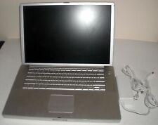"""Apple PowerBook G4 A1106 15.2"""" Mac Laptop 100GB HDD 2GB RAM 1.67GHZ 10.5.8 OSX"""
