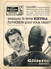 B- Publicité Advertising 1963 Lames de Rasoir Bleue extra Gillette