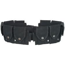 10 Pocket M1 Garand Utility Cartridge Ammo Pouch Canvas Adj Batman Belt - BLACK