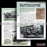 #vm044.07 ★ CAMION FORD & CHEVROLET CMP CANADA WW2 ★ Fiche Véhicule Militaire