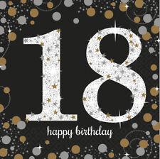 18. Geburtstag Party Servietten Amscan Deko Dekoration .. endlich ist es soweit!