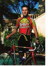 CYCLISME carte cycliste GERT VERHEYEN équipe LOTTO MOBISTAR 1998