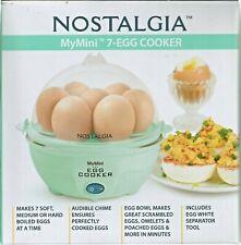 Nostalgia Mymini 7-Egg Cooker  Light Green Color- NEW