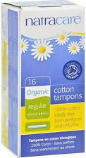 Natracare Organic All Cotton Tampons with Applicator, Regular 16 ea
