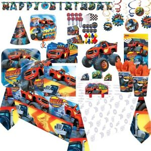 Blaze and The Monster Machines Party Tableware, Decorations and Balloons