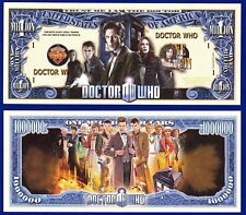 (2) -Doctor Who Dollar Bills sci-fi series Collectible- Novelty FAKE- MONEY- U2