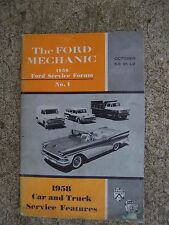 1958 Ford Car Truck Service Features Forum Mechanic Manual SEE MORE IN STORE  R