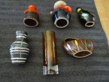 Lot 6 vases vintage années 60 70 signés GERMANY numéros en dessous