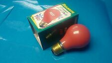 1 ea 100w Ceramic Red light bulb 120V Bulbrite Christmas  (B2)