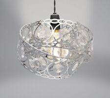 Modern Easy Fit Metal Light Fitting Ceiling Shade Lighting Decoration Cylinder Gem Wrap Silver