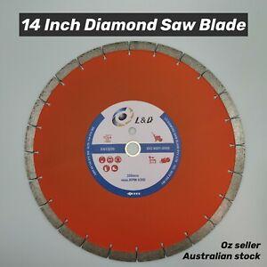 "14"" (356mm) Premium diamond saw blade demo saw blade Concrete Brick Pave"