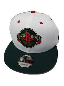 New Era 9Fifty Houston Rockets Snapback Hat (Red/White/Green) Men's Cap