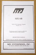 + MFJ - 2400 BPS Packet Modem Kit Data Controllers Instruction Manual Free Ship