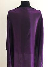 High Gloss Purple/Black Cross Dyed Satin Woven Dressmaking Fabric
