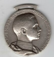 Undated German Silver Medal to Honor Charles Edward, Duke of Saxe-Coburg