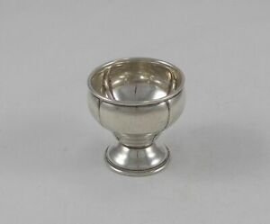 Rare Stylish Egg Cup IN Baroque Style From 830er Silver Germany Um 1930