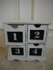 Vintage shabby chic 4 drawer storage cabinet
