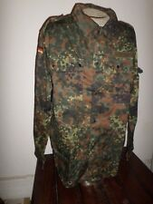 NEW GERMAN ARMY ISSUE FLECKTARN FLECK CAMOUFLAGE SHIRT/JACKET SIZE XL 48 LONG