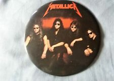 """metallica 1989 vintage pinback button/stand up 6"""" round"""