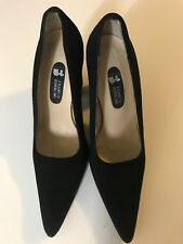 FRANCO BURRONE SUEDE LEATHER SHOES SIZE 40 Black