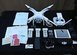 DJI Phantom 3 Advanced Drone HD Camera Lots of Extras + IPAD & HPRC2700 Case