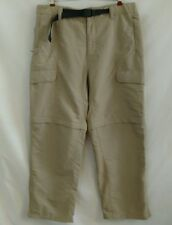 The North Face Mens Pants Convertible Zip Off Size L Beige Nylon Belted Hiking