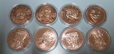 8 ZOMBIE APOCALYPSE COINS 1 oz Copper Rounds .999 Fine In Air-tites