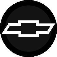 "SUPER SHARP CHEVY BLACK & CHROME 3"" DOMED CENTER CAP STICKER DECALS"