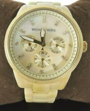 Michael Kors Womens Watch Gold Ritz Horn Band Mother of Pearl Dial MK5039