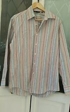 """Mens Boden chest 42/44"""" long sleeves striped 100% cotton. Multi Coloured"""