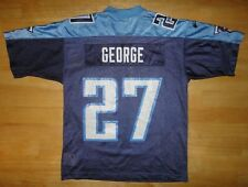 EDDIE GEORGE Nike TENNESSEE TITANS Blue Jersey - Youth Small S 8