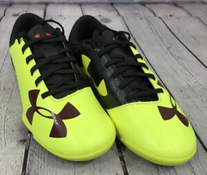 NEW Under Armour Spotlight IN JR Cleats Color Yellow Fusion Red Black Size 3Y