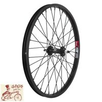 """WHEEL MASTER  WEINMANN DOUBLE WALL 20/"""" x 1.75/""""  ALLOY BLACK BICYCLE FRONT WHEEL"""